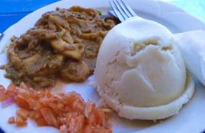 Eating Ugali for the first time