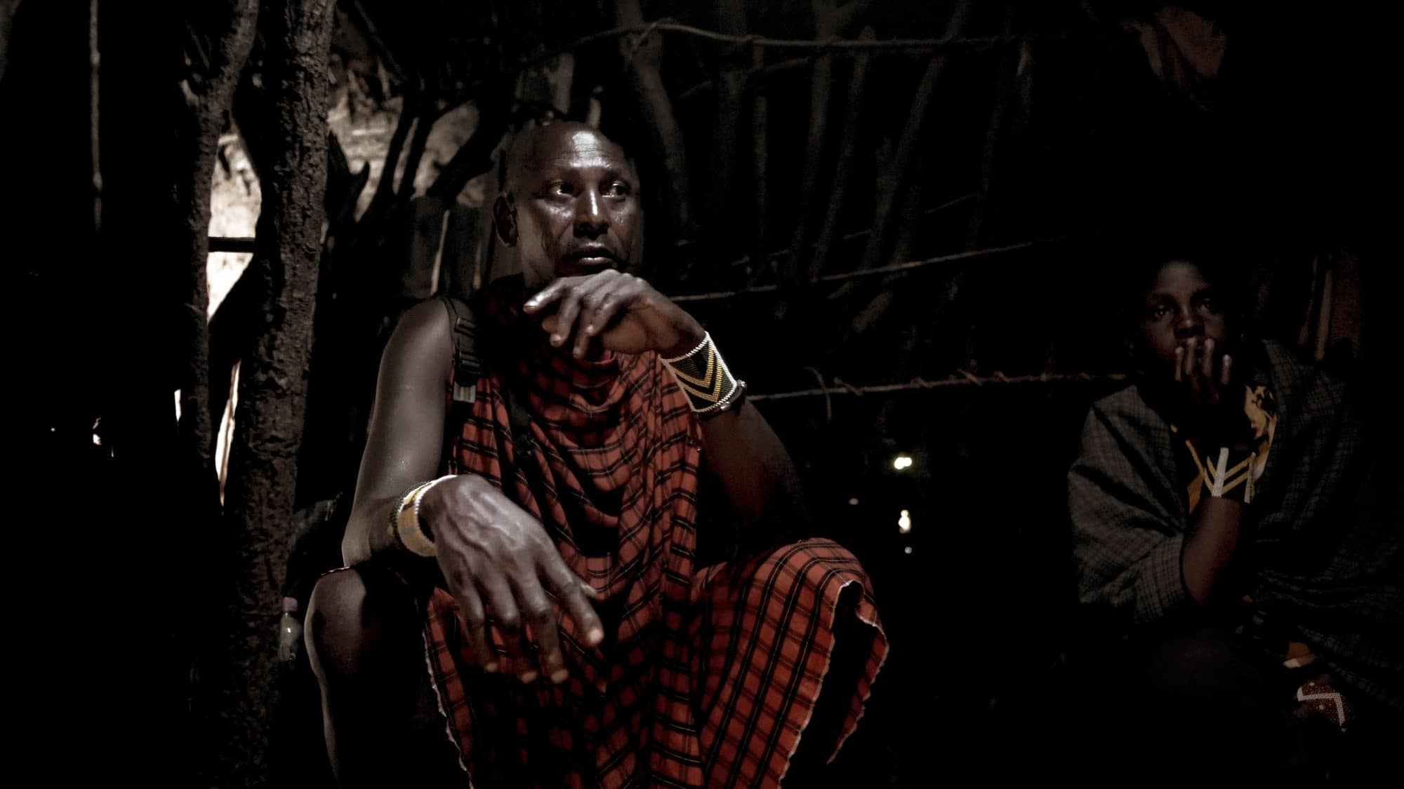 maasai interveiw inside his house