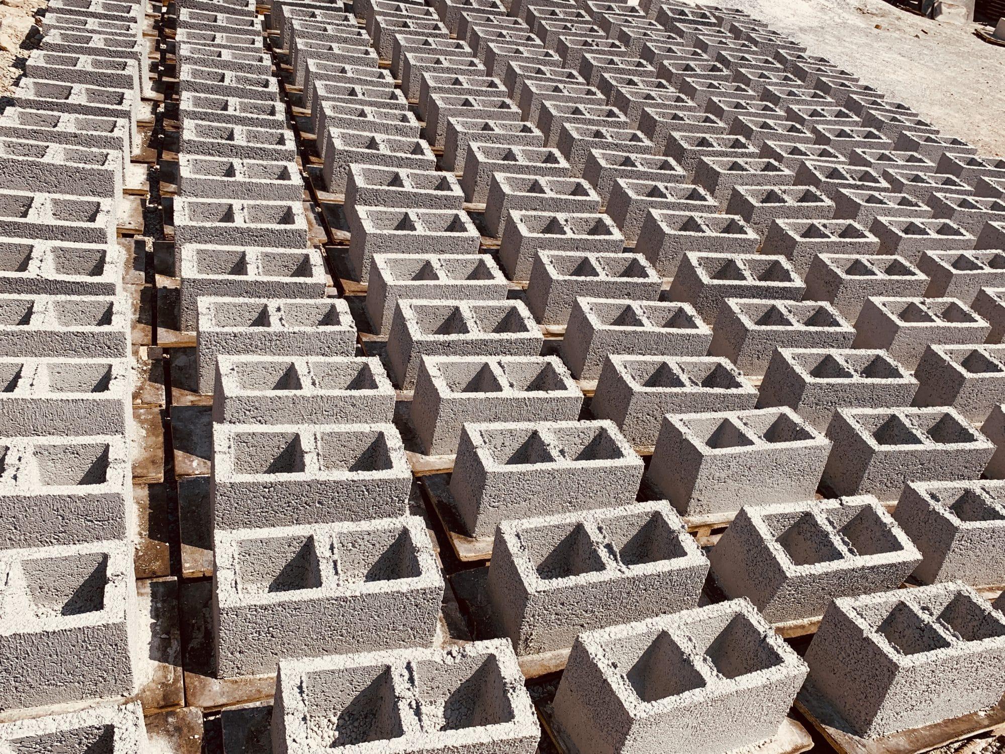 Concrete blockwork production
